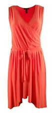 Ralph Lauren Womens Orange Handkerchief Hem Surplice Belted Jersey Dress 3X