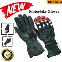 New 100% Pure Leather Motorcycle Gloves Motorbike Waterproof Windproof Biker