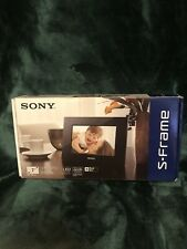 "Sony S-Frame 7"" Digital Picture Photo Frame (DPF-D710) Black New"