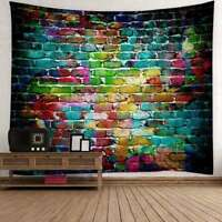Colorful Brick Stone Print Tapestry Wall Hanging Throw Tapestries Wall Decor USA