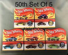 Hot Wheels 50th Anniversary Redline Set Of 5 ,'67 Camaro,Mustang,Beetle VW, 2018