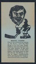 1974 Little Caesars Pizza SPORTS STARS -MARCEL DIONNE (Detroit Red Wings) *Tough