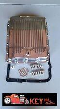 700R4 4L60E polished aluminum finned transmission pan  SBC BBC bolts & gasket