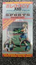Bloody And Shocking Sports Volume 2 Vhs Banned From Television Sealed