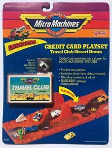 Micro Machines INSIDERS Credit Card Playset - Travel Club / Desert Dunes