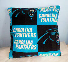 NEW CAROLINA PANTHERS FLEECE PILLOW BLACK BLUE L@@K NFL FOOTBALL