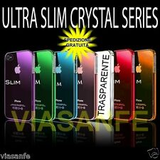 Cover Custodia Per iPhone 4S 4 Trasparente Crystal Rigida Ultra Slim + Pellicola