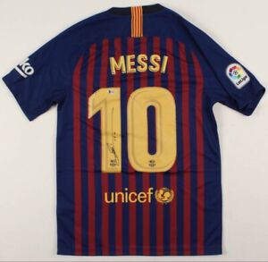 Lionel Messi Autographed Signed Nike On Field Style Jersey Beckett Authenticated
