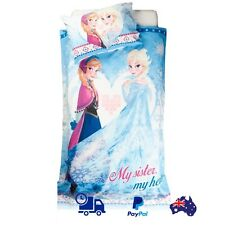SINGLE BED DISNEY FROZEN SISTERLY GIRLS GIFT QUILT DOONA COVER SET & PILLOWCASE