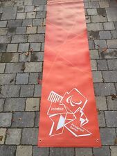 LONDON Paralympic Olympics 2012 Flag Sign Banner 2.2M Olympic Memorabilia Red