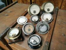 Lot de voltmètre ampèremètre galvanometre anciens pour électricité radio tsf.