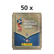 Panini 2018 Russia World Cup Sticker Tüten SET 50 packs 250 stickers