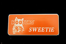 Hooters Girl Uniform Sweetie Name Tag Pin  Celebrity Halloween Costume Extra
