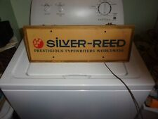 Rare Silver Reed Prestigious typewriters worldwide lighted sign