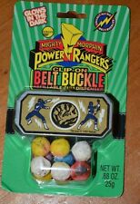 MIGHTY MORPHIN POWER RANGERS BLUE RANGER CLIP-ON BELT BUCKLE VERY RARE VINTAGE