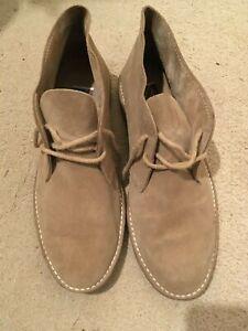Men's beige suede lace up shoes - size 11