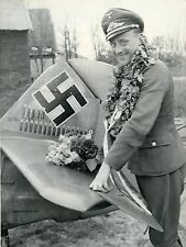 WW2 Photo WWII  German Luftwaffe Bf 109 Pilot KIA 1943 B-17  World War Two /6143
