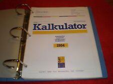 73-84 MERCEDES MECHANICAL PARTS & LABOR ESTIMATING GUIDES (IN GERMAN) KALKULATOR