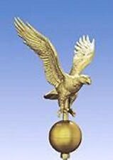 Gold Bald Eagle Metal Flagpole Finale Wow!