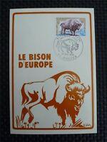 FRANCE MK 1974 BISON BISONS WISENT MAXIMUMKARTE CARTE MAXIMUM CARD MC CM c4526