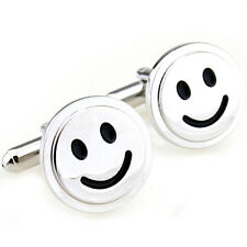 Smiley Face Smile Happy Face Cufflinks + Free Cufflink Box & Cleaner