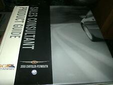 2000 CHRYSLER PT CRUISER 300M PLYMOUTH PRODUCT GUIDE DEALER ALBUM BINDER ALONE A