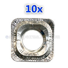10x Square Gas Protector Burner Cover Liners Stove Top Aluminium Foil BN-10PC