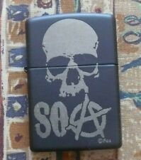 SKULLS SONS OF ANARCHY SKULL ZIPPO LIGHTER FREE P&P FREE FLINTS