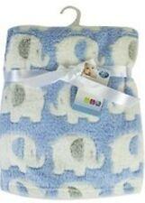 First Steps Luxury Soft Fleece Baby Blanket in Cute Elephant Design 75 X 100cm