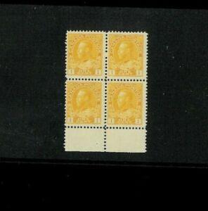 Canada 105d F-VF MNH Block of 4. Type II, Orange Yellow. Cat 200.00 (50.00 ea)