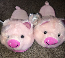 NEW Woman's Size Medium 7-8 Pink Flying Pig SOFT Plush Slippers BOBBIE BROOKS