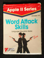"RARE~ VTG Apple II 2, 5.25"" Computer Software Game Word Attack Skills Grade 3-5"