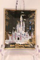 Disney World Cinderella  Castle Glass Ashtray Candy Dish Vintage Disneyana