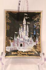 Walt Disney World Princess Castle Glass Ashtray Candy Dish Vintage Disneyana