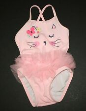 New Gymboree 1 Piece Kitty Face Swimsuit Bathing Suit Size 12-18M NWT Meow Roar