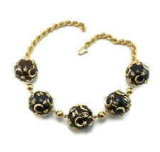Vintage 70s Couture CHANEL Runway Necklace CELESTIAL Stars CC Moon ULTRA RARE!