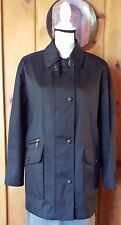 Gallery Women's Small Coat Black Lining Button Front Above Knee