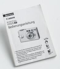 Bedienungsanleitung Canon Digital IXUS V2 V-2 v2 Gebrauchsanleitung