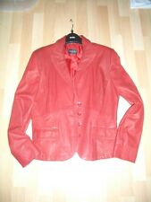 Stunning Soft Read Leather Jacket by Tuzzi Size 12