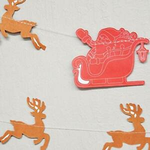 Quasimoon Red / Brown Santa's Reindeer Sleigh Christmas Holiday Party Paper G...