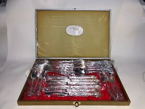 VINTAGE SILVER PLATED BOXED CUTLERY SET FOR 6  24 PIECES UNUSED JAPAN