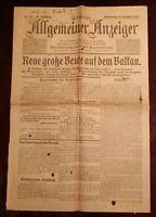 Erfurter Allgemeiner Indicador 9. Diciembre 1915 Histórico Periódico 1.
