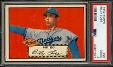1952 TOPPS  BILLY LOES (RED BACK)  #20  PSA  2