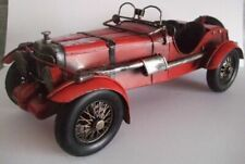 Vintage Model Car Tin Plate Hand Painted Ornament Unboxed
