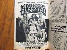 Apr-1980 TV Guide(THE DUKES OF HAZZARD/DIANE LADD/BOSS HOGG/DAISY DUKE/MEL BLANC