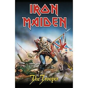 Iron Maiden Trooper Poster Flag Fabric Textile Wall Banner Official Band Merch