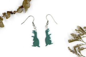 Green Dinosaur Earrings - Novelty Earrings