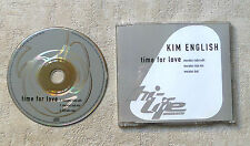 "CD AUDIO INT/ KIM ENGLISH ""TIME FOR LOVE"" CD SINGLE 1995 HI LIFE RECORDING 3T"
