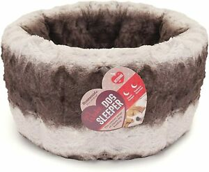 Rosewood Swirl Grey & Cream Plus Dog & Cat bed Machine Washable