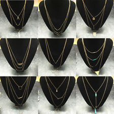 Love heart Crystal Rhinestone Costume Necklaces & Pendants
